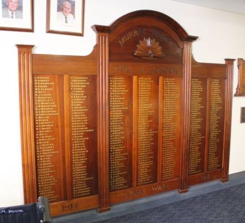 World War One Honour Board : 06-May-2012
