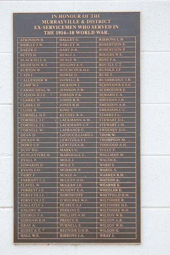 World War One Honour Roll : 12-September-2012