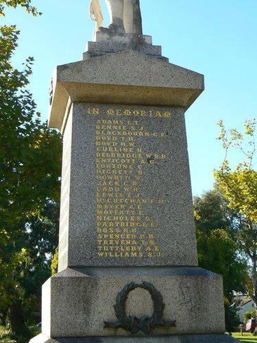World War One Memorial : 24-April-2013
