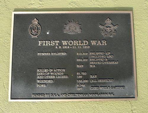 World War One Plaque : 28-September-2012