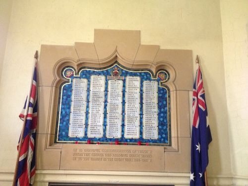 Yarra St Methodist Honour Roll : November 2013