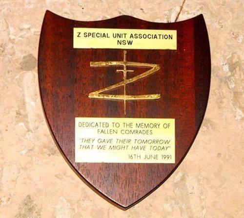 Z Special Unit Plaque