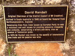 Randall Plaque: 12-March-2017