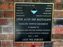 25th Battalion WW2 Plaque : 2009