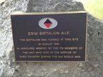 2-21st Battalion Plaque : November 2013