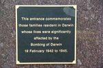 Darwin Memorial Entrance Inscription