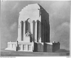 Design drawing by C. Bruce Dellit (Australian War Memorial : AO2810)