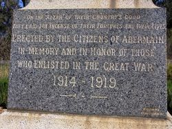 War Memorial Inscription : 11- September-2014