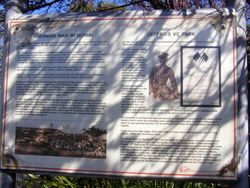 War Memorial Historical Sign : 11- September-2014