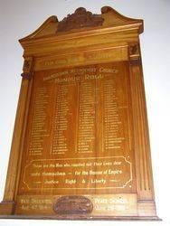 WW1 Honour Roll : 07-September-2014