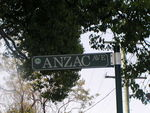 Anzac Avenue street sign October 2012