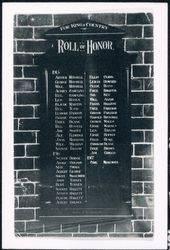 1916 : Original Honour Roll (George Farleigh Stephinson)