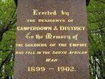 Boer War Memorial Front Inscription /April 2013/ Williams