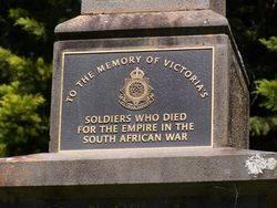 Boer War Inscription : 17-October-2014