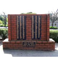 Honour Roll 1914 -1918
