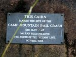 Camp Mountain Train Crash Plaque