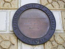 National Trust Plaque : 30-October-2014