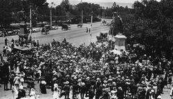 21-December-1916 : Unveiling : State Library of South Australia -  B-57634