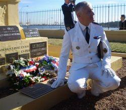180th anniversary : Commander of the French Fleet of Pacific : (Lynda Newnam)
