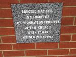 Foundation Plaque : March 2014