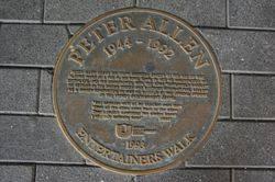 Peter Allen Plaque 1993 : September-2014