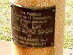 Esk Water Supply Inscription