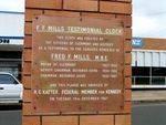 F F Mills Memorial Clock Inscription