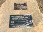 Federation Avenue Plaques :October 2013