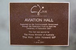 Aviation Hall Plaque : 28-December-2015
