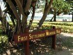 First Settlement Memorial Wall Sign