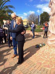 Sculptor Marijan Bekic and President of Croatia during 2018 visit