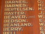 Footscray Roll of Honour
