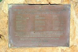 Plaque Inscription : 13-August-2015