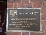 Geelong West Post Office 100 years Plaque : 11-09-2013