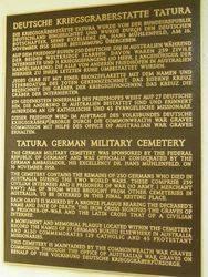 War Cemetery Plaque : 19-October-2014
