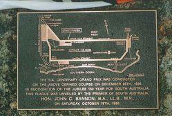 Original plaque from 1986