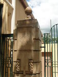Gympie Gates -Far left Pillar