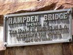 Hampden Bridge Plaque : 20-March-2013
