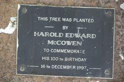 Harold Edward McCowen Plaque : 28-March-2015