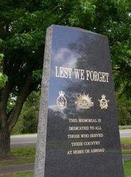 RSL Memorial : 04-November-2014