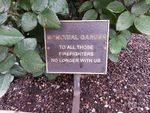 Memorial Garden Plaque : November 2013