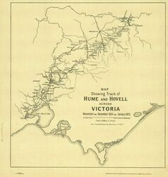 Map of Journey : (State Library of Victoria : Maps 820.5 AT 1824 – 1825)