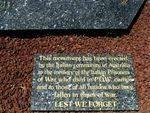 Italian POW memorial Dedication plaque