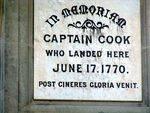 James Cook Monument Inscription