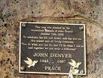 John Denver Plaque