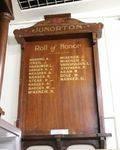 Junorton Roll of Honour : 18-July-2011
