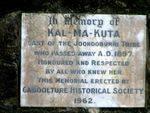 Kal Ma Kuta Memorial Inscription