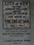 Kew War Memorial