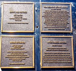 Memorial Plaques : 10-June-2016