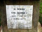 King George V Inscription